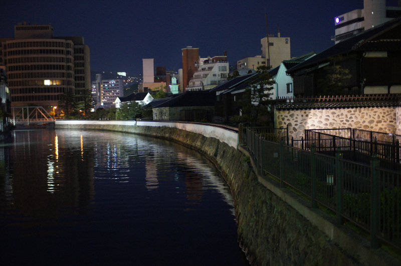 Dejima Island, restored as a historic monument in Nagasaki
