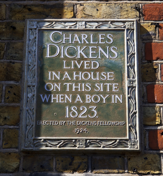 Charles Dickens Plaque London