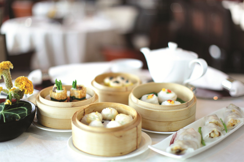 Dim sum tea house Hong Kong