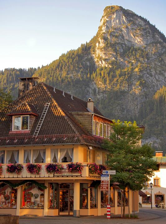 Oberammergau village streets.