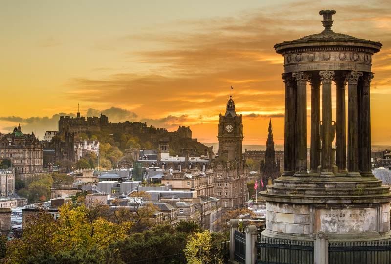 Edinburgh's charming, historic skyline