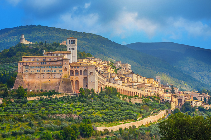 Basilica of San Francesco in Assisi, Umbria, Italy