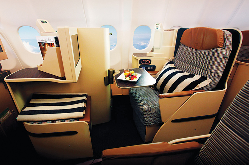 Etihad Airlines Business Class seat