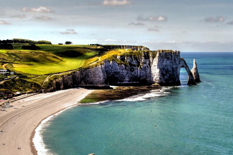 Chalk cliffs of Etretat