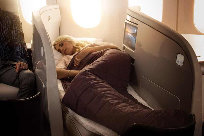 Air NZ Business lie flat bed