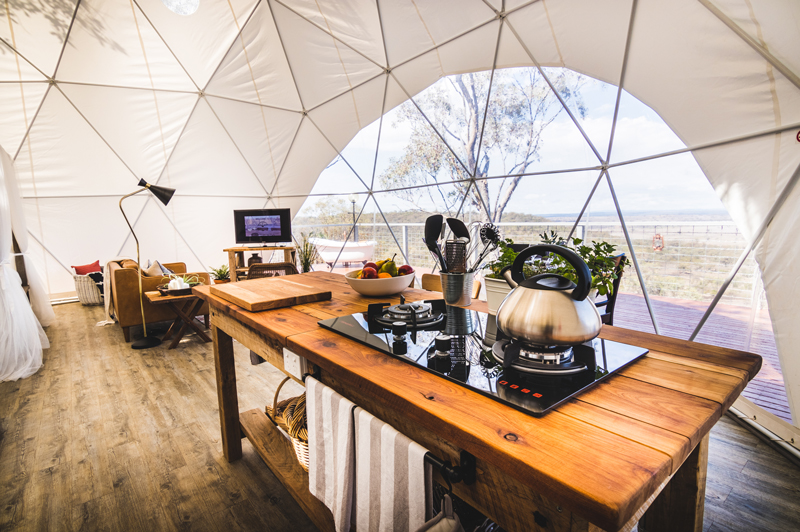 Faraway Domes kitchen