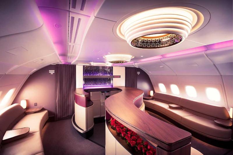 Qatar Airways Business Class Bar