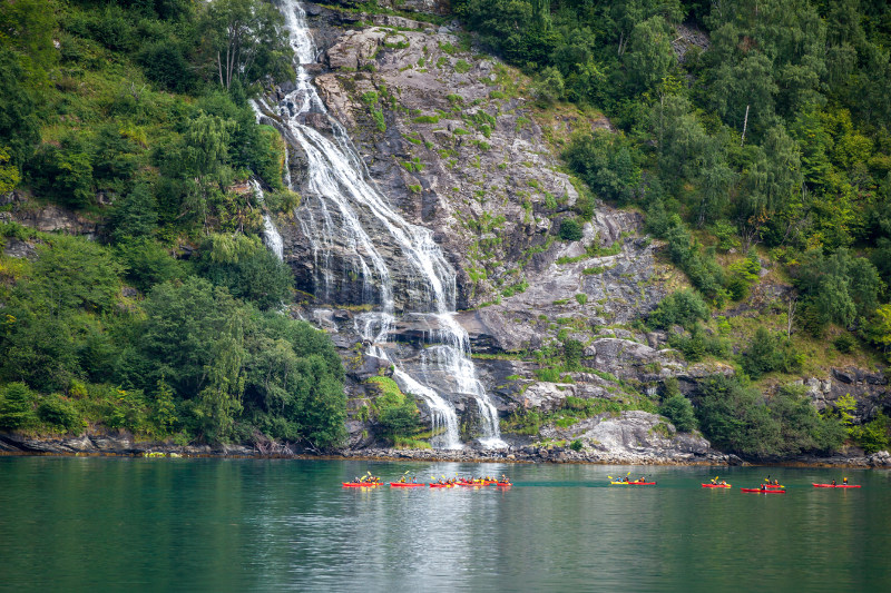 Paddle the fjords in a kayak