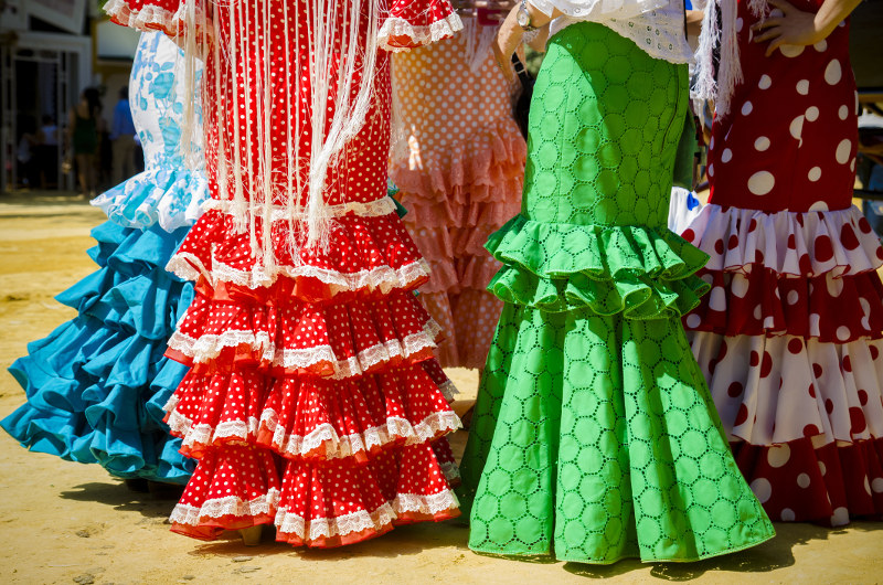 Flamenco frocks Seville April Fair