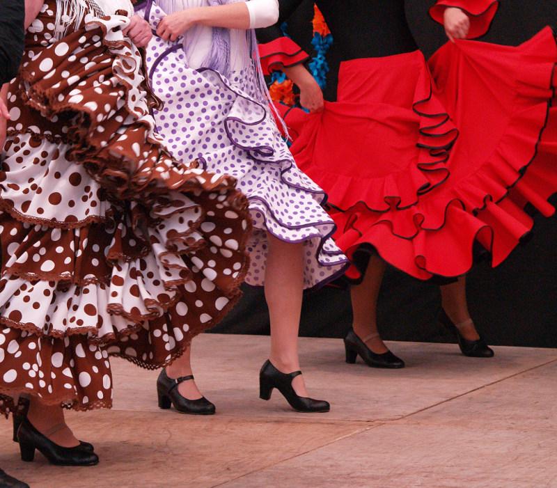 Flamenco legs Andalucia  Spain