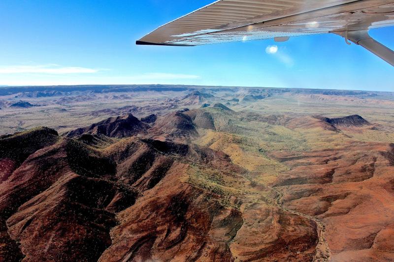 The Kimberley Bungle Bungle Range from an aeroplane