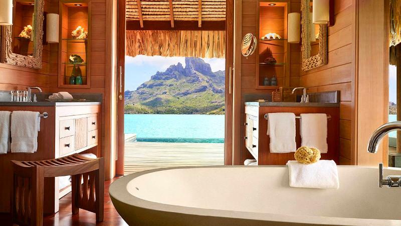 Four Seasons overwater bungalow Bora Bora