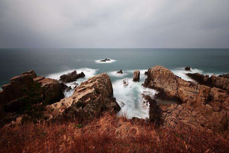 The basalt cliffs of Tojinbo, Fukui