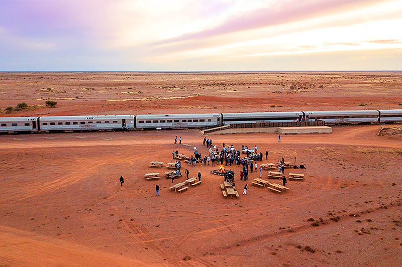 The Ghan Expedition, Manguri Canape Outback Fire