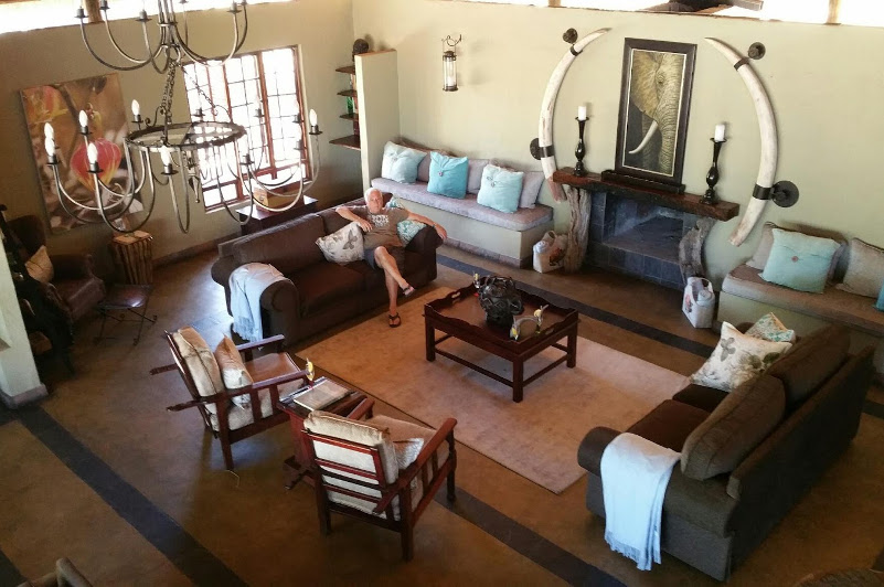 Game Lodge living room South Africa