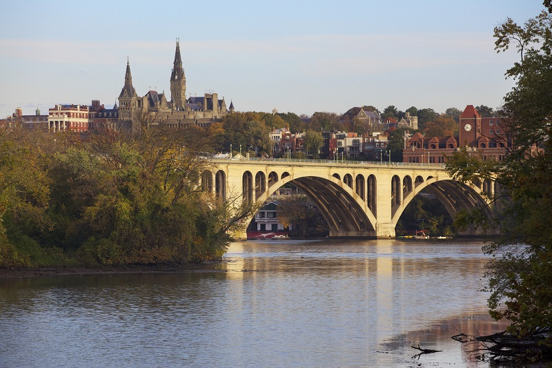 Georgetown University and the Key Bridge