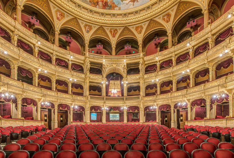 Travel Associates interior of Budapest opera house