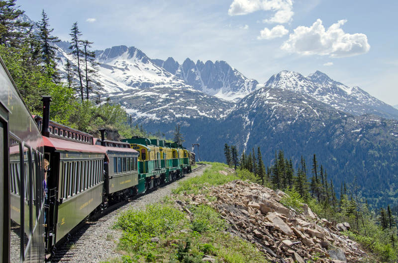 Travel Associates train to white pass alaska