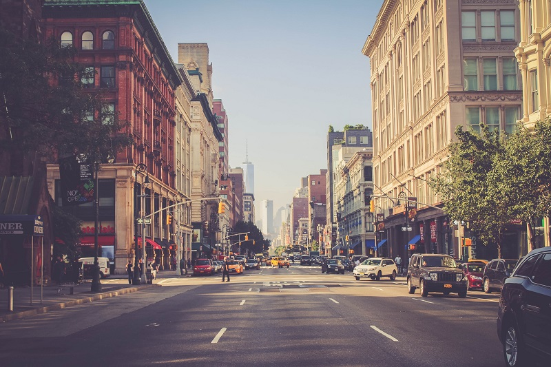 The streets of New York City.