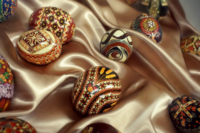 Ukrainian painted easter eggs