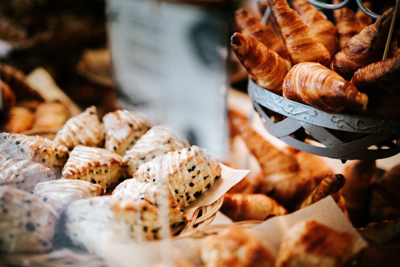french pastries in bakery