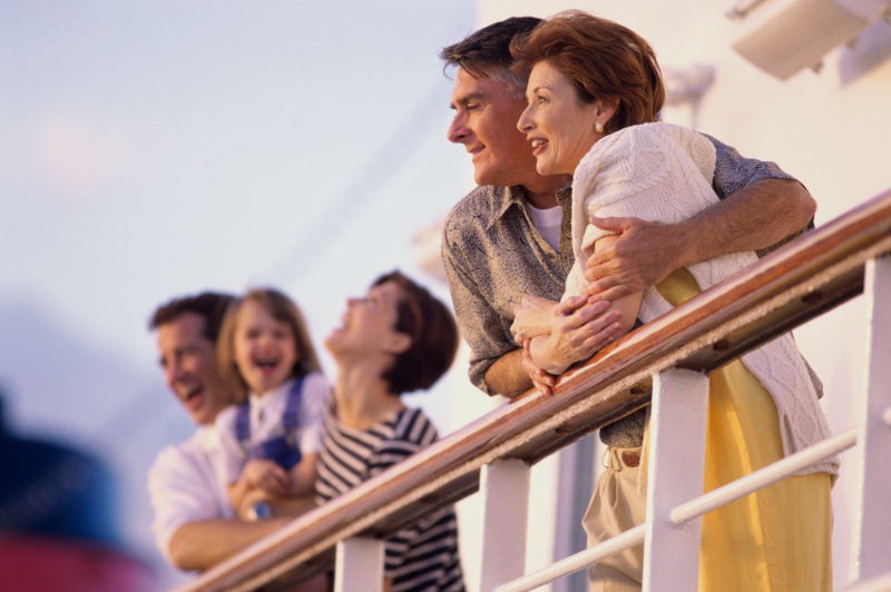 FAmily aboard cruise ship