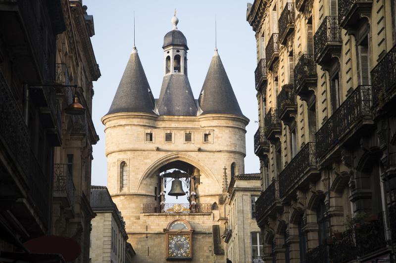 Grosse Cloche ornate bell tower in Bordeaux