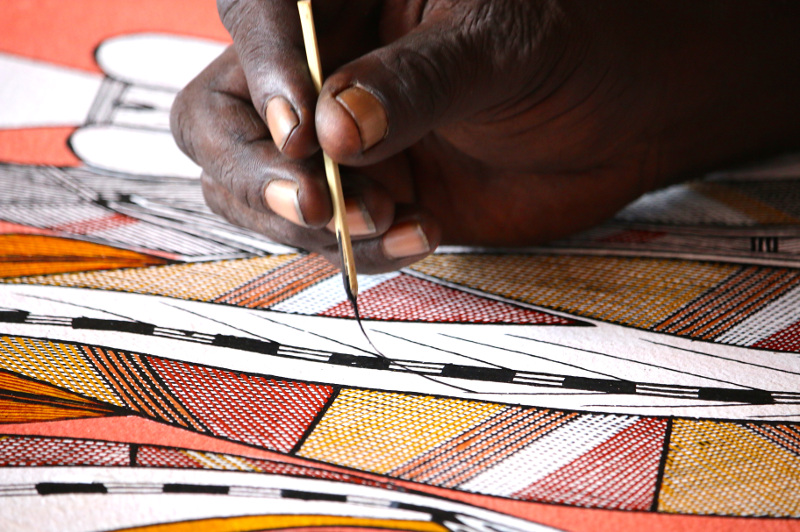 Indigenous Australian Art at the Injalak Art centre