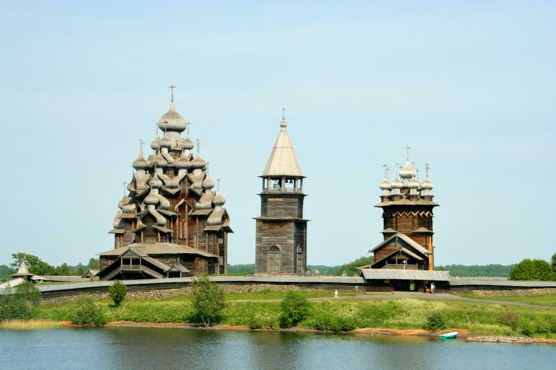 Kizhi Pogist in Lake Onega, Russia