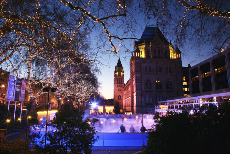 London winter ice skating