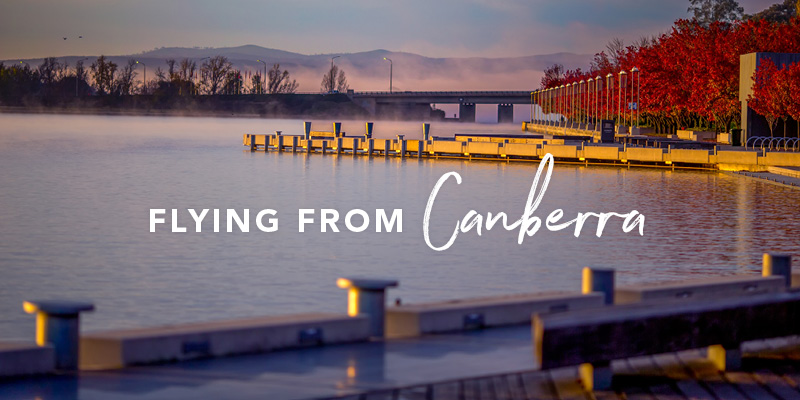 Flying from Canberra