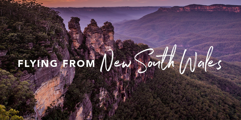 Flying from New South Wales