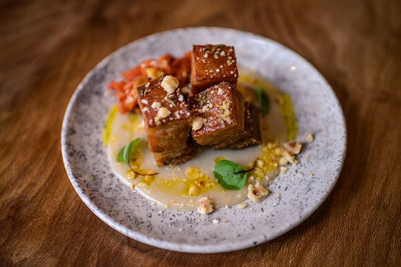 Pork Belly at Elnecot, Manchester (image courtesy of Elnecot)