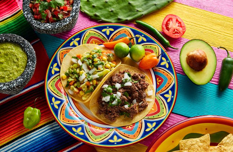 Mexican barbacoa tacos.