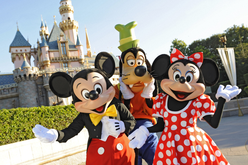 Mickey Mouse, Minnie Mouse and Goofy