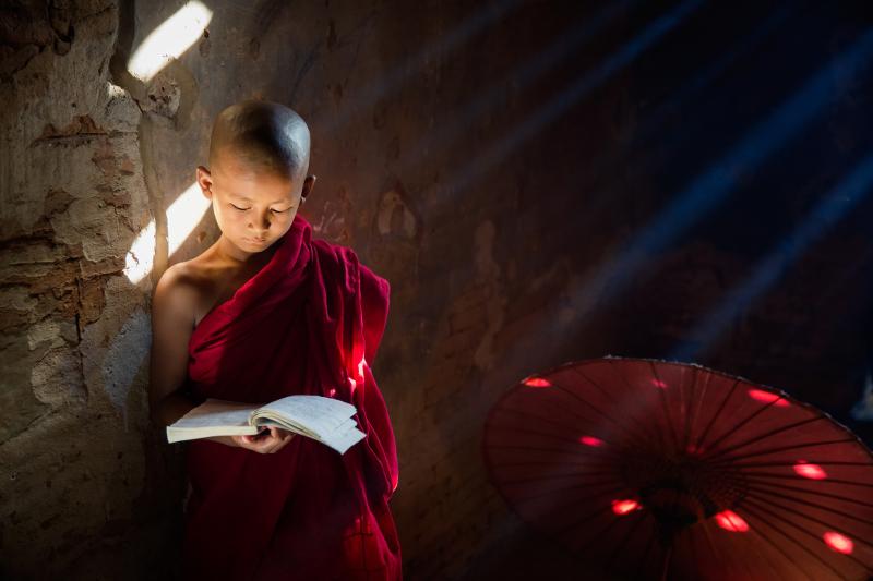 Buddhist monk in training