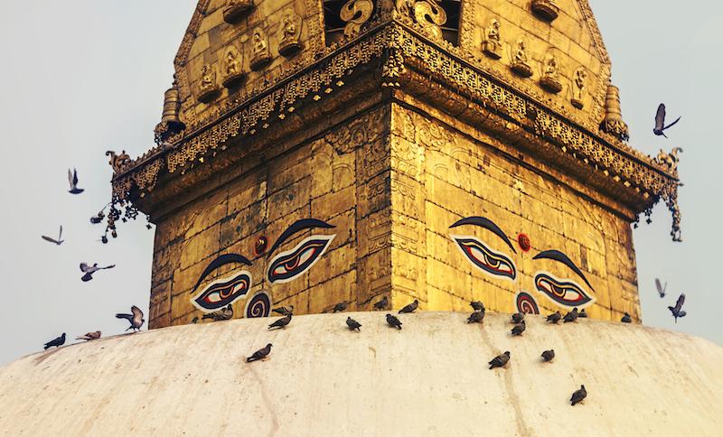 Swayambhunath Temple in Nepal