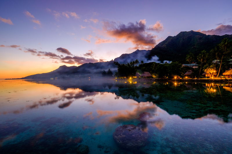 Moorea sunset French Polynesia Tahiti