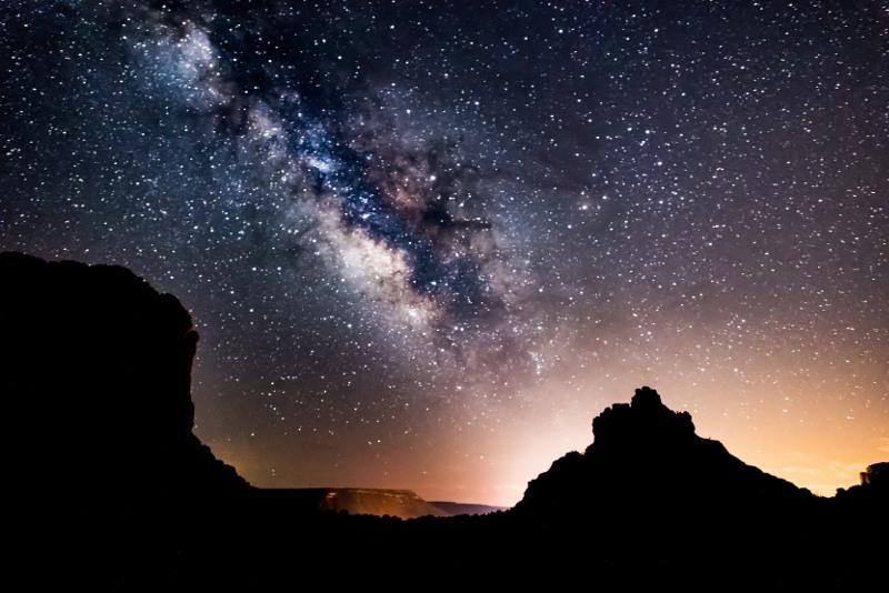 Starry skies of Nevada, USA