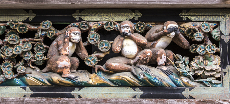 Three monkeys Nikko