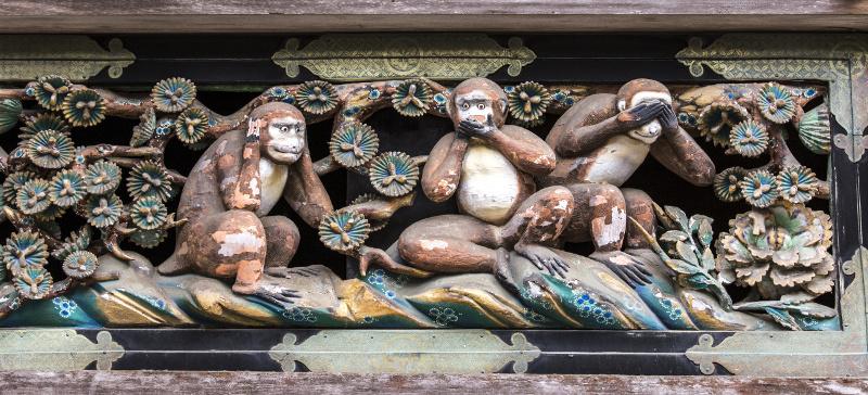 Three monkeys Nikko
