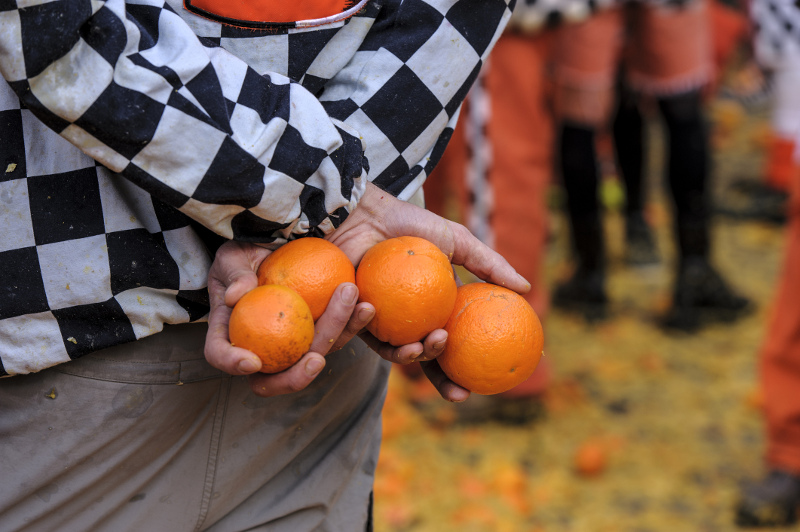 Battle of Oranges, Ivrea, Italy