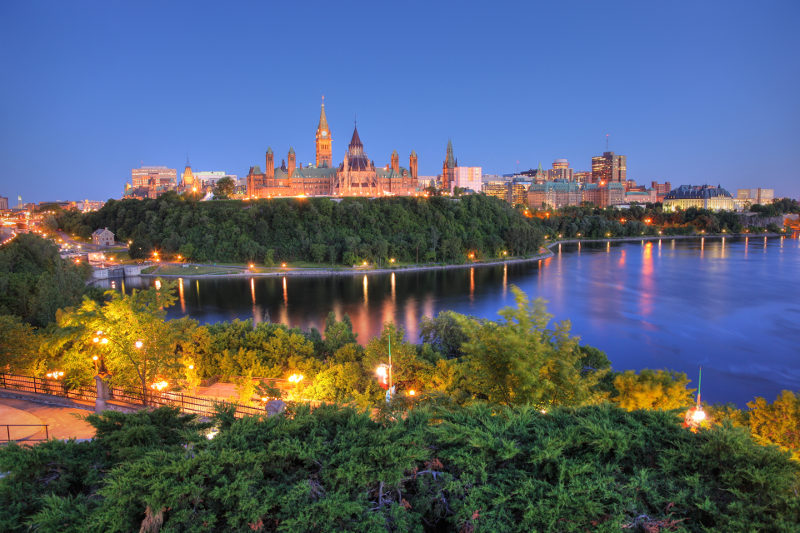 Ottawa's breathtaking Parliament Hill.