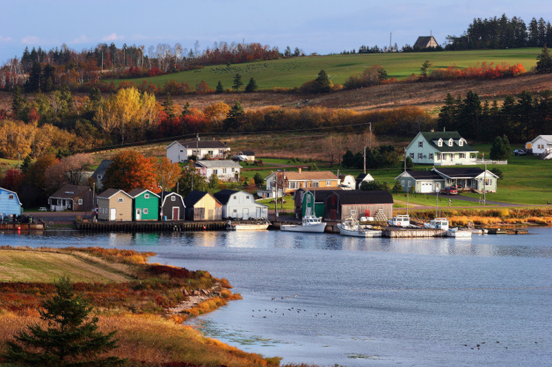 Scenic houses on Prince Edward Island