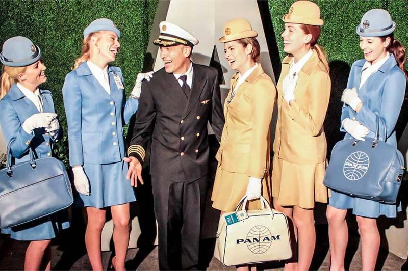 Pan Am Stewardesses and Pilot