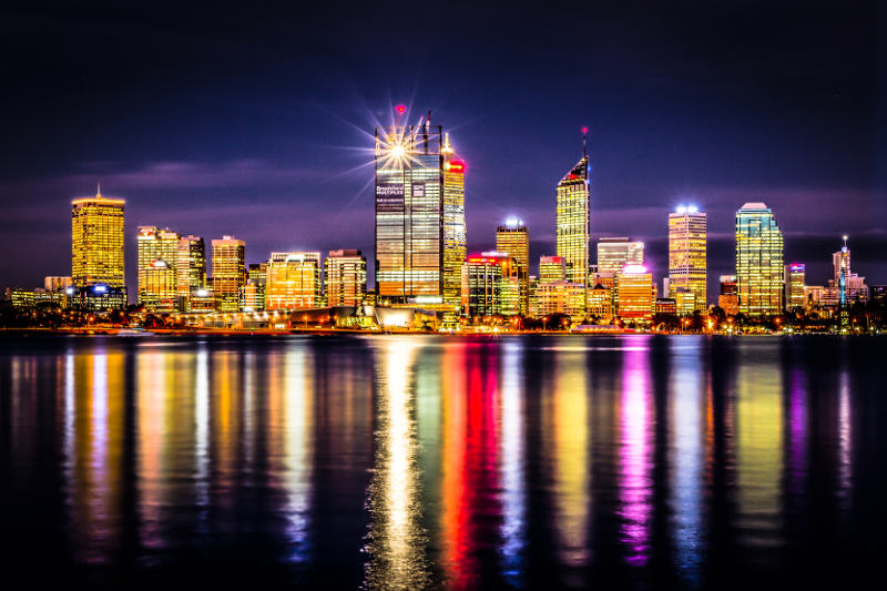 Perth, Australia by night