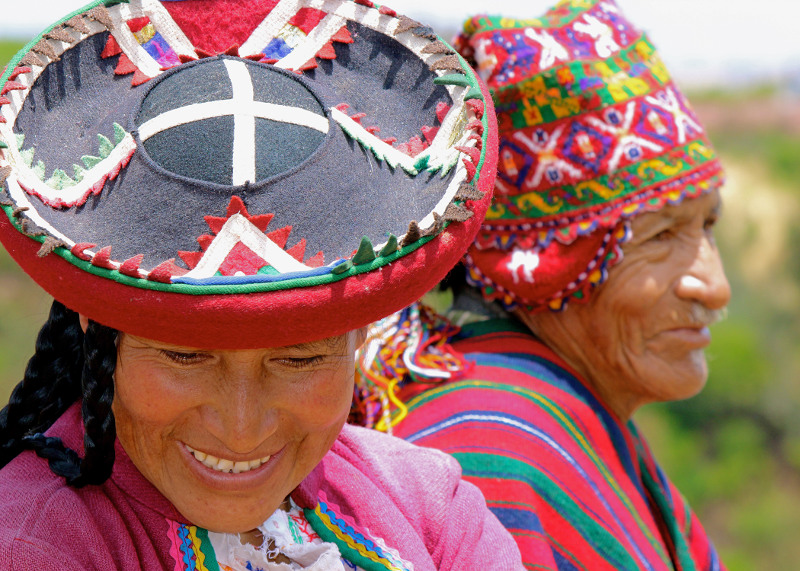 Peruvians in traditional dress