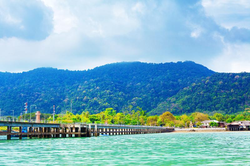 Pier leading to Koh Lanta Island