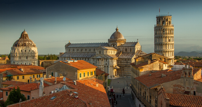 Skyline of Pisa, Italy