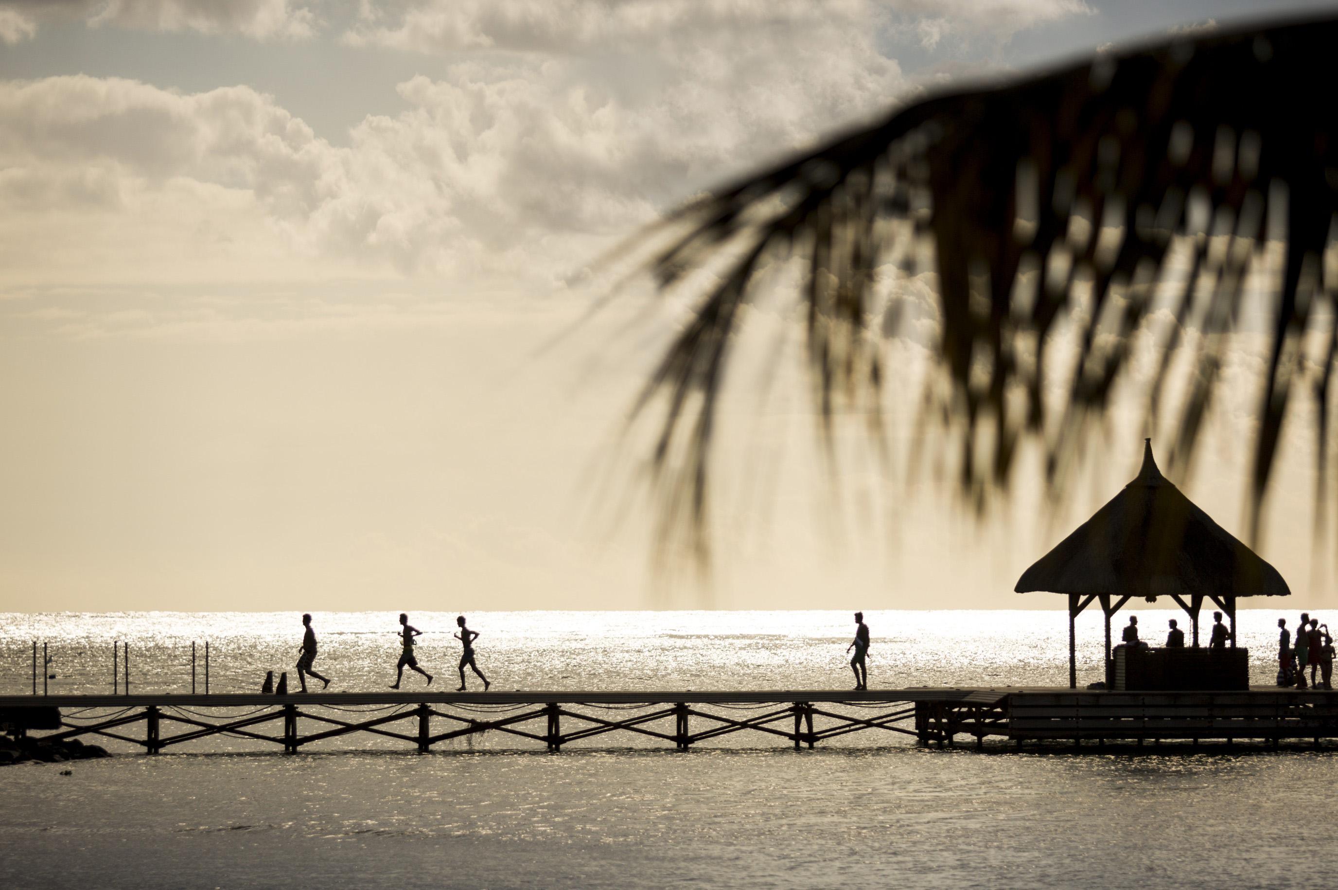 Enjoy a spectacular Mauritius sunset.